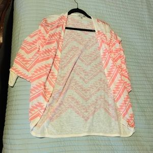 Hot pink tribal coverup